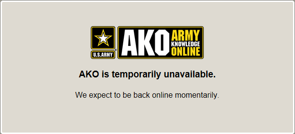 AKO is temporarily unavailable