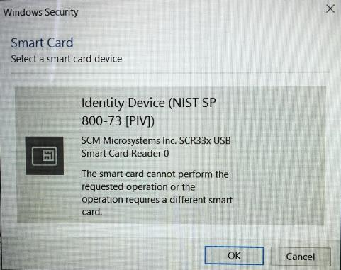 Requires different Smart card
